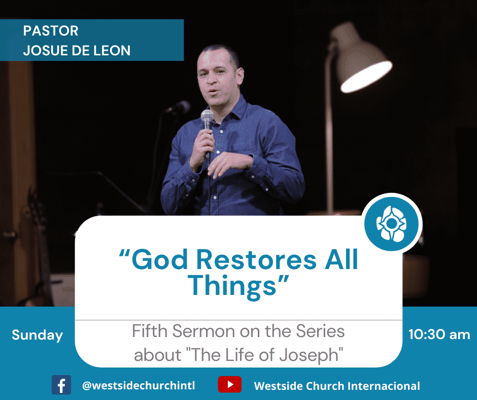 """""""God Restores All Things"""""""